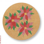 "CBK Designs by Karen DK-EX 12 Poinsettia Ornament 13Mesh 4"" Rnd"