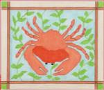 "CBK Designs by Karen DK-PL 18 Coral Crab 18 Mesh 8.75 x 7.5"""