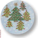 "CBK Designs by Karen DK-EX 16 Xmas Trees 13 Mesh 4"" Rnd"