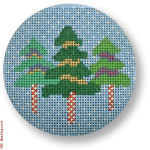 "CBK Designs by Karen DK-EX 21 Three Christmas Trees 13 Mesh 4"" Rnd"
