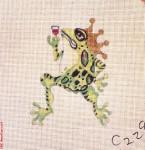 "C229 Frog with Crown 18 Mesh 6"" x 6"" CBK Eddie & Ginger"