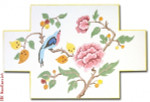 "DS105 Bird & Flower Brick 13 Mesh 13.5"" x 9"" CBK Eddie & Ginger"