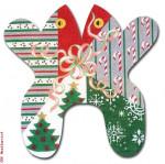 "M121 Baby Christmas 18 Mesh 11"" x 11"" Eddie & Ginger"