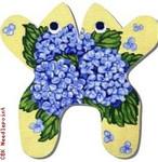 "M159 Baby Hydrangea Frog 18 Mesh 11 x 11"" CBK Eddie & Ginger"