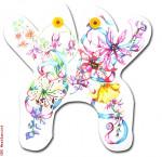 """M128 Wildflowers 18 Mesh 14.5 x 14.5"""" CBK Eddie & Ginger"""