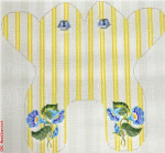 """M153 Baby Monogram Frog Yellow 13 Mesh 11 x 11"""" CBK Eddie & Ginger"""
