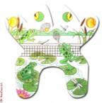 """M133 Tennis Frog 18 Mesh 14.5 x 14.5"""" Eddie & Ginger"""