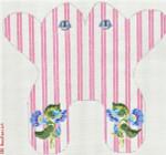 """M154 Baby Monogram Frog - Pink 13 Mesh 11 x 11"""" CBK Eddie & Ginger"""