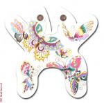 """M126 Oriental Butterfly 18 Mesh 14.5 x 14.5"""" Eddie & Ginger"""