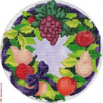 "EG-XO 07 Fruit Wreath 18 Mesh 4"" Rnd. Eddie & Ginger"