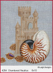 4254 Leigh Designs Chambered Nautilus Shell 18 Count Canvas
