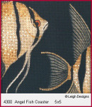 4300 Leigh Designs Angel Fish 18 Count Canvas Special Order