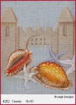 4252 Leigh Designs Cowrie Shell 18 Count Canvas