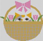 Baskit Kat Tulips Charley Harper CH-B015 18 Mesh 73⁄4 x 71⁄2 Treglown Designs
