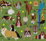 Friends Of Our Family Charley Harper HC-F220  18 Mesh 24 x 21 Treglown Designs