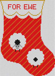 CH-F008 Treglown Designs Charles Harper For Ewe Stocking 4 1/4 x 6