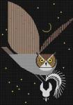 Pfhwooooo!!! Charley Harper HC-P217 13 Mesh 12x17 Treglown Designs
