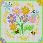 3261 Daisy & Dragonflies 13 Mesh 83⁄4 x 83⁄4 Treglown Designs