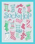 14-1354 Christmas Sock Hop  96 x 128 Sue Hillis Designs
