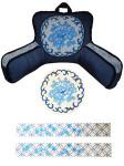 BB001 Trubey Designs Blue Oriental Medallion  3 pcs., 13G BED BUDDY