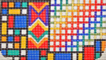 CB003 Trubey Designs COSMETIC BAG Mondrian Geometric 4.75 x 8.5, 18G