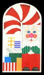 DS04 Santa 17 x 9.5,13 Mesh DOORSTOP Trubey Designs