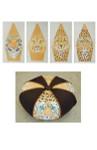 FS014 Safari Cats Tuffet 7.5 x 17,13g FOOTSTOOL Trubey Designs