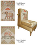 CA06B Trubey Designs CHAIR CANVAS Elephant Back canvas only 25.5 x 17.5, 13G