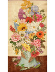 FIS013 Flowers center panel 17 x 32,13g  Trubey Designs