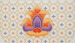 CB001 Persian Flower 4.75 x 8.5,18g Trubey Designs