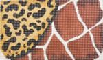 CB005 Trubey Designs COSMETIC BAG Giraffe/Leopard 5 x 8.5