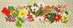 FS013 Floral Lattice Bench Cvr 16 x 41,13g FOOTSTOOL Trubey Designs