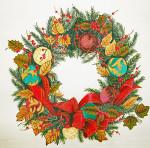XST011 Trubey Designs CHRISTMAS WREATH Xmas Orn. Wreath 17 dia., 13G