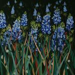 ED-1380 Dede's Needleworks Texas Blue Bonnet Meadow (Green Canvas) 14 x 14, 18g