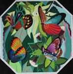 ED-842 Dede's Needleworks Jeweled Butterflies 14 x 14, 18g