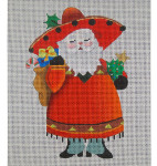 ED-585A Dede's Needleworks Senor Claus front only, 3½ x 5, 18g