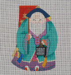 ED-670A Dede's Needleworks Chinese New Year Santa front only, 3½ x 5, 18g