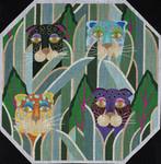 ED-682 Dede's Needleworks Jeweled Leopards 14 x 14, 18g