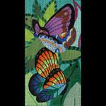 ED-908 Dede's Needleworks Jeweled Jungle Butterflies 3½ x 6½, 18g