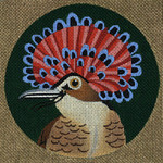 ED-1185D Dede's Needleworks Tropical Bird Northern Royal Flycatcher, Mexico 5½ x 5½