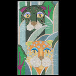 ED-704 Dede's Needleworks Jeweled Leopards 3½ x 6½, 18g