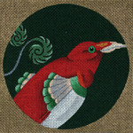 ED-1185F Dede's Needleworks Tropical Bird Little King Bird of Paradise, New Guinea 5½ x 5½