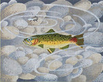 ED-1283A Dede's Needleworks Small Rainbow Trout w/ pebbles 7 x 9, 18g
