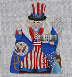 ED-1255B Dede's Needleworks City Santa Series – Washington, DC front & back, 18g