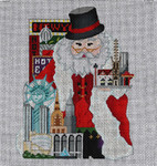 ED-1233B Dede's Needleworks New York Santa front & back, 18g