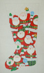ED-1212 Dede's Needleworks Santa Stocking w/ attachment 15 x 24, 18g