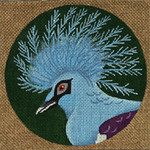 ED-1185A Dede's Needleworks Tropical Bird Crowned Pigeon, New Guinea 5½ x 5½, 18g