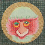 ED-1187D –Dede's Needleworks Rose Monkey 4 x 4