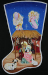 ED-1325 Dede's Needleworks Creche Stocking 15 x 24, 13g