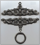 "PT815 Bellpull Pewter; Embossed; 15cm (5-7/8"")"
